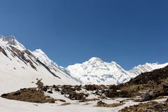 Annapurna Base Camp View Royalty Free Stock Images