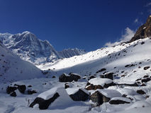 Annapurna Basin, Annapurna Base Camp Stock Images