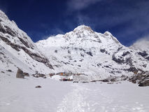Annapurna basläger (abc:et), Nepal - Himalayas Arkivfoto