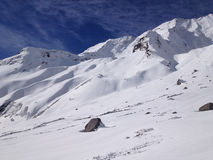 Annapurna basläger (abc:et), Nepal - Himalayas Royaltyfri Foto
