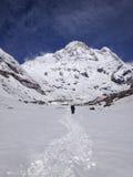 Annapurna basläger (abc:et), Nepal - Himalayas Royaltyfri Fotografi