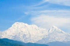 Annapurna-Berge, Nepal Stockfotos