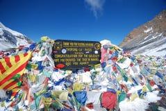 The Annapurna circuit pass stock image
