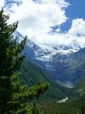 Annapurna 2 in the clouds, Nepal Royalty Free Stock Photo