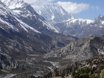 Annapurna Conservation Area, Manang region,Nepal. Royalty Free Stock Photography