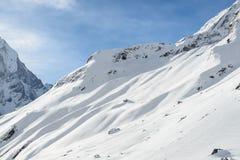Annapurna couvert par neige images libres de droits