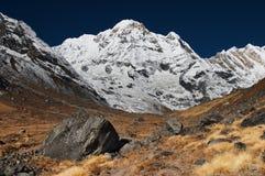 Annapurna del sur Fotos de archivo libres de regalías