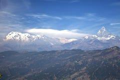 annapurna dhaulagiri manaslu尼泊尔范围 图库摄影