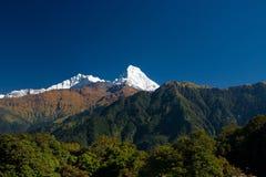 Annapurna Gebirgszug Lizenzfreie Stockbilder