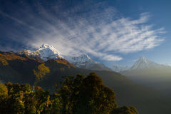 Annapurna Gebirgszug Stockbilder