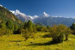 Annapurna Gebirgszug Stockfoto