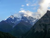 Annapurna 2 from Ghyaru in morning, Nepal Royalty Free Stock Photo
