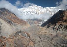 Annapurna grundläggande läger nepal himalaya Arkivfoton