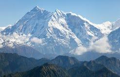 Annapurna Himal från det Jaljala passerandet - Nepal - Asien Royaltyfri Bild