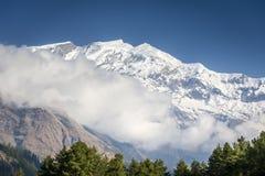 Annapurna Himalaya peaks in Nepal Stock Image