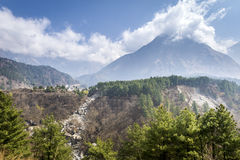 Annapurna Himalaya region in Nepal Stock Photography