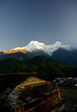 Annapurna, Himalayagebergte, Nepal Stock Afbeelding