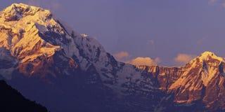 Annapurna and Hiunchuli. On the Annapurna Base Camp Trek Royalty Free Stock Photography