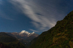 Annapurna I Himalaya Mountains in Nepal Royalty Free Stock Photography