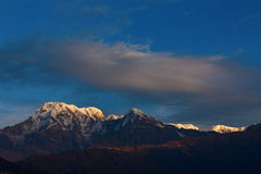 Annapurna I Himalaya Mountains in Nepal Stock Photography