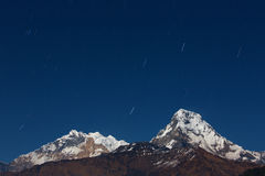 Annapurna I Himalaya Mountains View from Poon Hill 3210m at nigh Stock Photo