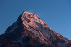 Annapurna I Himalaya Mountains View from Poon Hill 3210m at sunr Royalty Free Stock Photography