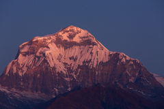 Annapurna I Himalaya Mountains View from Poon Hill 3210m at sunr Stock Image