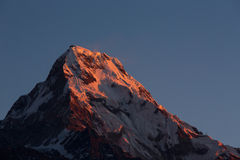 Annapurna I Himalaya Mountains View from Poon Hill 3210m at sunr Stock Images