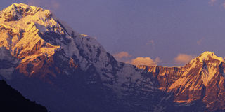 Annapurna i Hiunchuli Fotografia Royalty Free