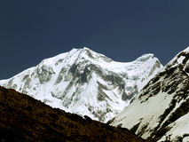 Annapurna III. 7855m as seen on the way to Annapurna Base Camp. Annapurna Base Camp Trek is one of the most popular treks on earth.Like any other trip in the royalty free stock photography