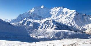 Annapurna IV 2 ΙΙ και 4, σειρά Annapurna Στοκ Φωτογραφία