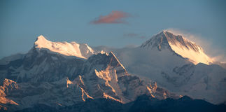 Annapurna IV and II peaks Stock Photography