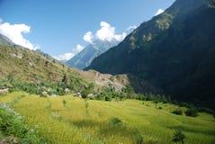 annapurna landsacpe尼泊尔 免版税库存图片