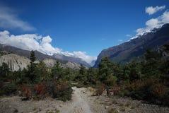 annapurna landsacpe Νεπάλ Στοκ φωτογραφία με δικαίωμα ελεύθερης χρήσης