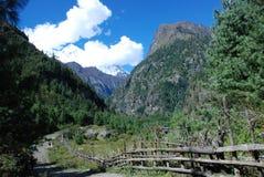 annapurna landsacpe Νεπάλ Στοκ Φωτογραφίες
