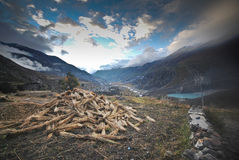 Annapurna landsacpe - Νεπάλ Στοκ φωτογραφία με δικαίωμα ελεύθερης χρήσης