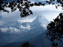 Annapurna 8091m und Annapurna Süd-7219m Stockbilder