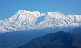Annapurna - majestic mountain in Himalaya Stock Image
