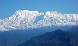 Annapurna - majestueuze berg in Himalayagebergte Stock Afbeelding