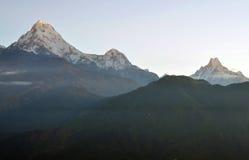 Annapurna massiv. Nepal. royaltyfri fotografi