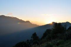 Annapurna massiv. Nepal. arkivfoto