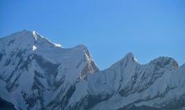 Annapurna massiv. Nepal. royaltyfria foton