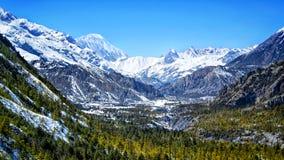 Annapurna mim nepal imagens de stock royalty free