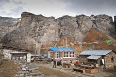 Annapurna mountain huts Stock Photo