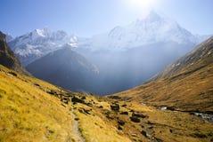 Annapurna Mountain Landscape. Near Annapurna Base Camp, Nepal Stock Photography