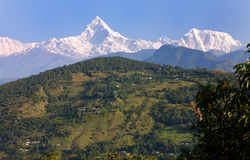 Annapurna Mountain Range Royalty Free Stock Photo