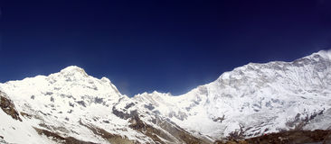 Annapurna Mountain Range Stock Image