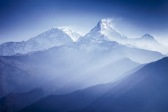 Annapurna mountains. In sunrise light Royalty Free Stock Images