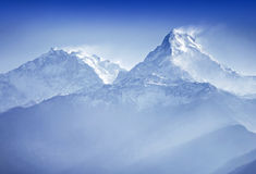 Annapurna mountains. In sunrise light Stock Images