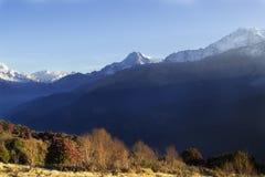 Annapurna område Arkivfoto